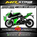 Stiker motor decal Yamaha R25 Cool Grafis Simple Minimalis