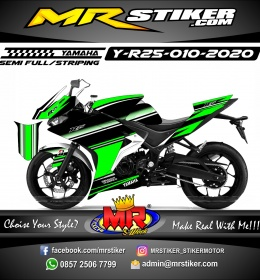 Stiker motor decal Yamaha R25 Cool Grafis Simple Minimalis