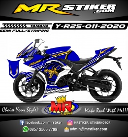 Stiker motor decal Yamaha R25 Circle Tech Dragon
