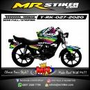 Stiker motor decal Yamaha RX KING Grafis Splat Airbrush 1