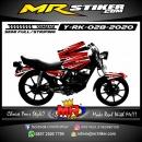 Stiker motor decal Yamaha RX KING Grafis Red Airbrush 2