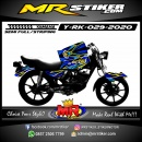 Stiker motor decal Yamaha RX KING Grafis Blue Line Yellow Airbrush 3