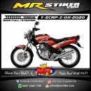 Stiker motor decal Yamaha Scorpio Z 3D Line Airbrush Carbon