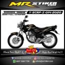 Stiker motor decal Yamaha Scorpio Z Tribal Silver and Gold