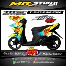 Stiker motor decal Yamaha Soul GT New FOX clipart splat