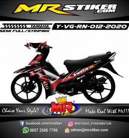 Stiker motor decal Yamaha Vega R New Red Tribal 3D Airbrush