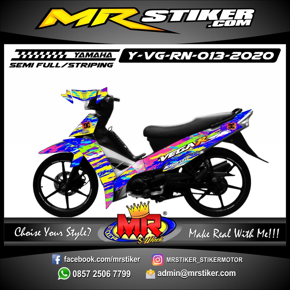 Stiker motor decal Yamaha Vega R New Splat Rainbow Color