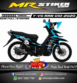 Stiker motor decal Yamaha Vega RR Dark Monkey Line SkyBlue