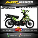 Stiker motor decal Yamaha Vega RR Fox Green Splat