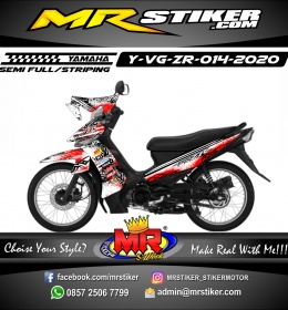 Stiker motor decal Yamaha Vega ZR Splat Brush Tribal Grafis
