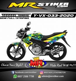 Stiker motor decal Yamaha Vixion Grafiti Direction 3D Graffiti