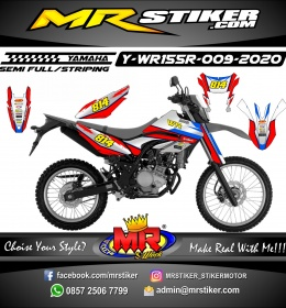 Stiker motor decal Yamaha WR 155 R Gray Gradation Red Blue Grafis