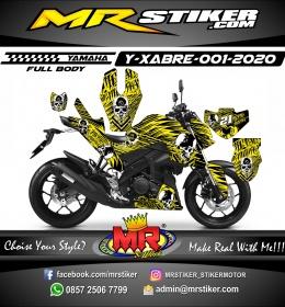 Stiker motor decal Yamaha Xabre Fullbody Yellow Line Splat Metal Mulisha