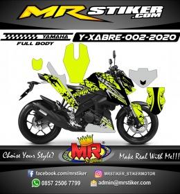 Stiker motor decal Yamaha Xabre Fullbody Ink Splat Royalty
