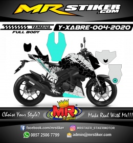 Stiker motor decal Yamaha Xabre Fullbody Block Earth Line Blue Ice