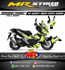 Stiker motor decal Honda ADV 150 FullBody Star Line Grafis