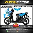 Stiker motor decal Honda Beat Shark Blue Manipulasi