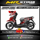 Stiker motor decal Honda Beat All New Red Dragon Tribal