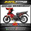 Stiker motor decal Honda Blade Red Angry Shark