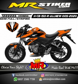 Stiker motor decal Honda CB 150 R All New Orange Splat
