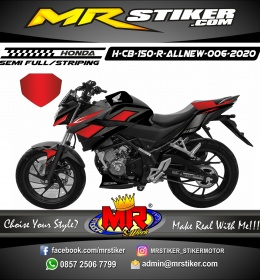 Stiker motor decal Honda CB 150 R All New Dark Red Black Carbon