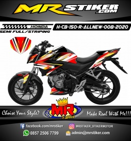 Stiker motor decal Honda CB 150 R All New Line Brush Grafis Flame Color