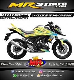 Stiker motor decal Yamaha Vixion R Star Grafis Airbrush Line