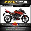 Stiker motor decal Yamaha Vixion R Line Red Combine Stabillo color