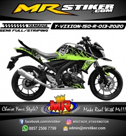 Stiker motor decal Yamaha Vixion R Fox Lighting Splater Green