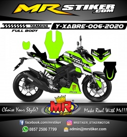 Stiker motor decal Yamaha Xabre Fullbody Green Mecha Tech