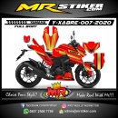 Stiker motor decal Yamaha Xabre Fullbody Gold Red Mecha