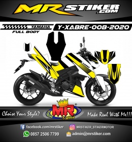 Stiker motor decal Yamaha Xabre Fullbody Elegan Grafis