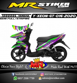 Stiker motor decal Yamaha Xeon GT Splat Abstrack ColorFul