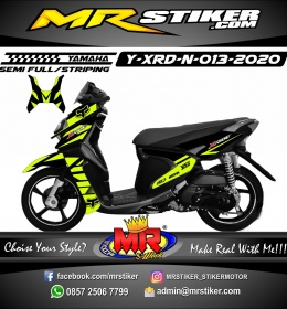 Stiker motor decal Yamaha X-RIDE New Fox Green Stabillo