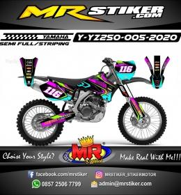Stiker motor decal Yamaha YZ 250 Neon Color Grafis