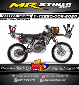 Stiker motor decal Yamaha YZ 250 Barong Made