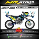 Stiker motor decal Yamaha YZ 250 Blue Glasses Getch Grafis