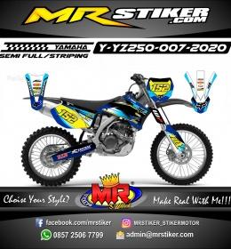 Stiker motor decal Yamaha YZ 250 Blue Glasses Getch Grafis