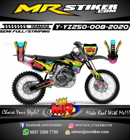 Stiker motor decal Yamaha YZ 250 Race Monster Energy ColorFul
