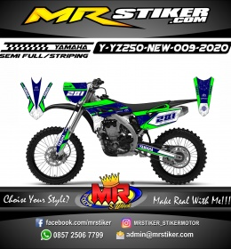 Stiker motor decal Yamaha YZ 250 F New Galaxy Track Race
