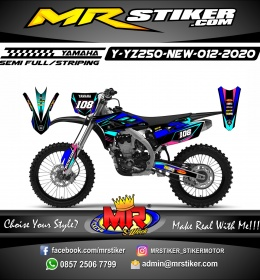 Stiker motor decal Yamaha YZ 250 F New The Neon Light Line