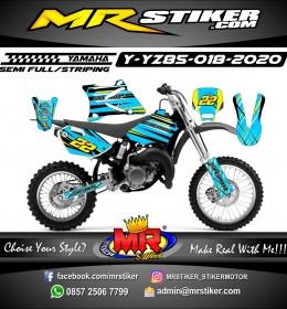 Stiker motor decal Yamaha YZ 85 Blue Color Grafis Line Supermoto