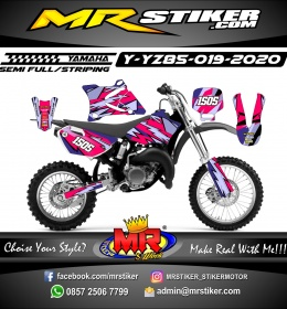 Stiker motor decal Yamaha YZ 85 Purple Grafis Element