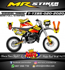 Stiker motor decal Yamaha YZ 85 Yellow Grafis Red Line Rockstar