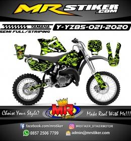 Stiker motor decal Yamaha YZ 85 Skull Garage