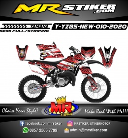 Stiker motor decal Yamaha YZ 85 New Red Road Race Crash