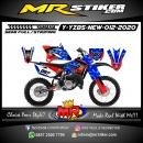 Stiker motor decal Yamaha YZ 85 New Red Grafis Blue Camo