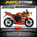 Stiker motor decal Honda CBR 150 OLD Shark Red Orange Gradation