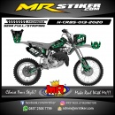 Stiker motor decal Honda CR 85 Supermoto Green Flame Grafis