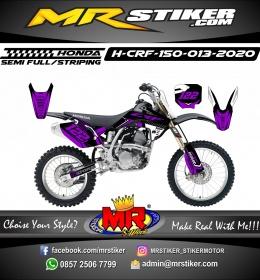 Stiker motor decal Honda CRF 150 Grafis Purple Color Race